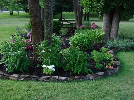 Flower Garden Ideas Around Trees