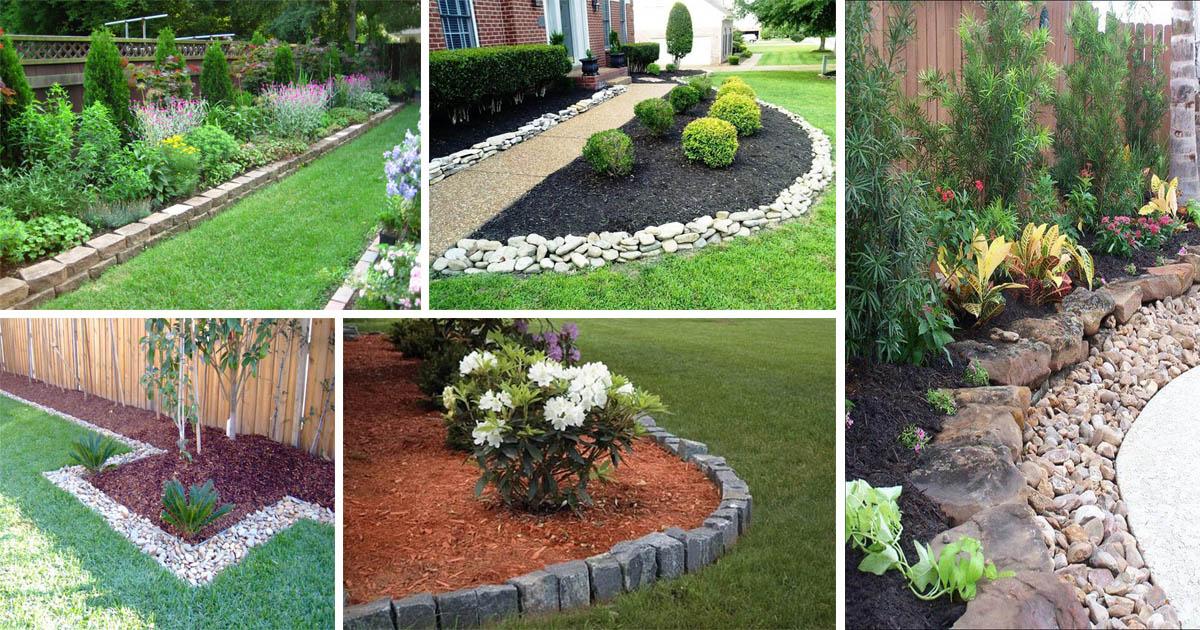 15 Wonderful Garden Edging Ideas With Pebbles And Stones ... on Backyard Pebble Ideas  id=68372