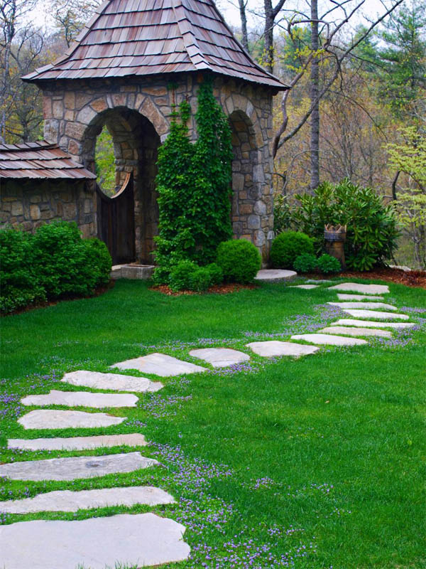 15 Eye-Catching Garden Path Ideas With Stepping Stones ... on Stepping Stone Patio Ideas  id=74087