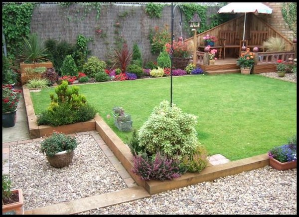 17 Fascinating Wooden Garden Edging Ideas You Must See ... on Wooded Backyard Ideas id=28640