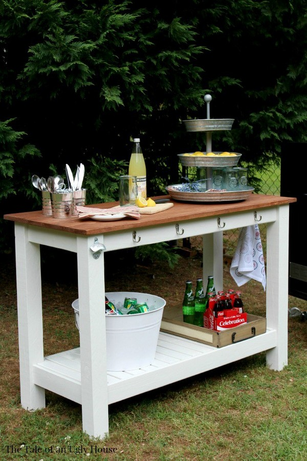 17 Awesome DIY Outdoor Bars Ideas To Prepare Your Patio ... on Patio With Bar Ideas id=62756