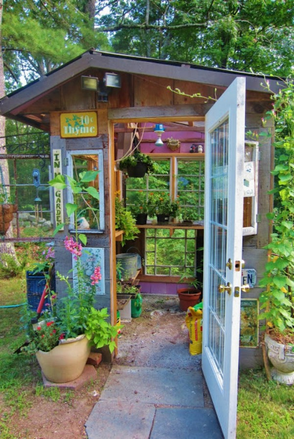 15 Whimsical Charming Gardens Shed Designs - The ART in LIFE on Whimsical Backyard Ideas id=70382