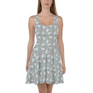 Perfume No. 5 print Skater Dress