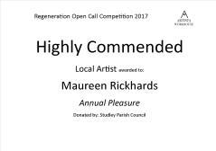 Highly Commended - Maureen Rickhards Local Artist
