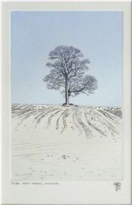 Snowny Morning, Winchcombe ed 20/80 | Etching with hand colouring | 6'' x 4''