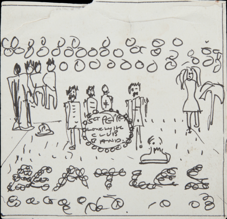 John Lennon: Sgt. Pepper Album Sketch