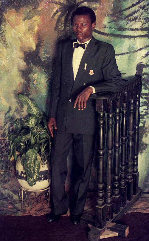 "Karl Ohiri, ""Suit and Banister"", (Circa 1990's), Courtesy of Lagos Studio Archives"