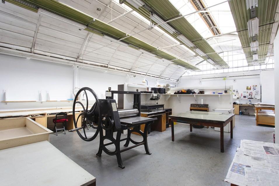 Atelier gravure, Cité Internationale des arts, Site du Marais. Crédit Maurine Tric.