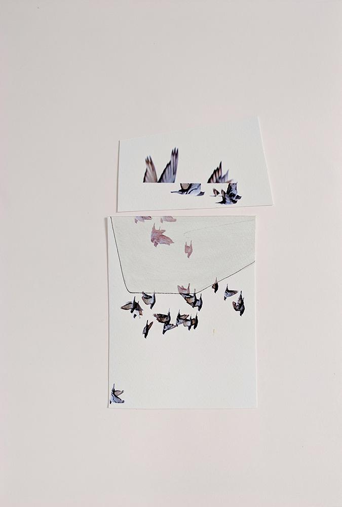 "ruby onyinyechi amanze, ""Open the skies (insert pool)"", 2019. Inkjet print, ink. 20.5 × 30 cm. Courtesy the Artist."