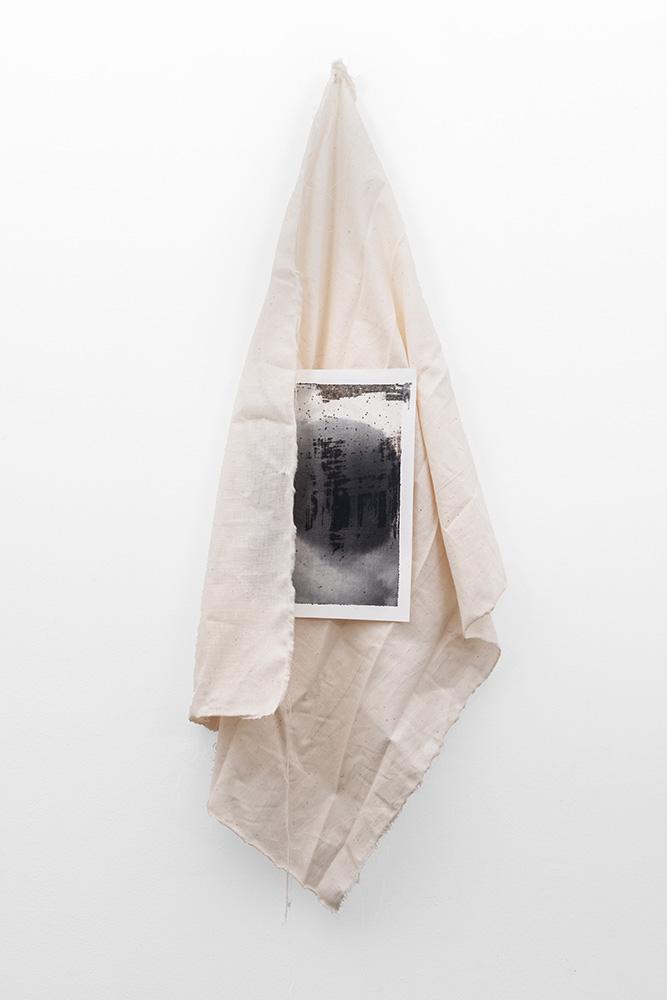"Alexandra Karakashian, ""yashmuk VI"", 2019. Oil on paper and fabric. Dimensions variable. Courtesy of SMAC Gallery, Copyright Alexandra Karakashian."