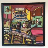 Johnnie Swearingen, God Loves You, 1991. Oil on canvas