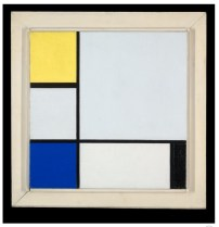 Composition with Yellow, Blue, Black and Light Blue | oil on canvas ca. 1929, Yale University Gallery of Art