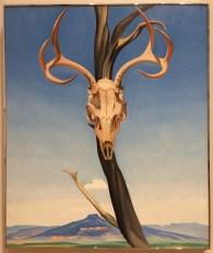 """Georgia O'Keefe, """"Deer's Skull with Pedernal"""" 1936"""
