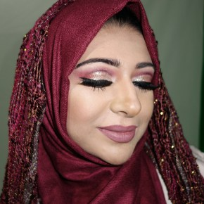 Makeup for WUD's Zunira Malik on Qatar National day special. Used Huda Beauty palette rose gold edition.