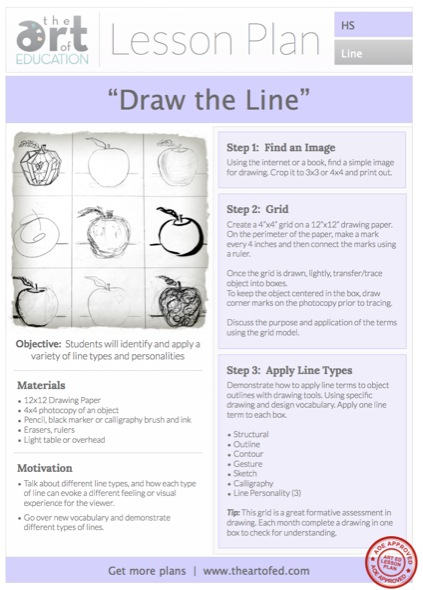 Drawing the Line: Free HS Lesson Plan Download - The Art ...