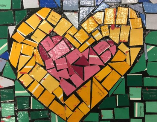 student artwork of a heart