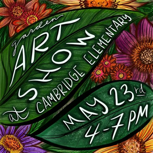 digitally drawn art show poster