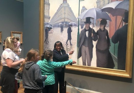 students at art museum
