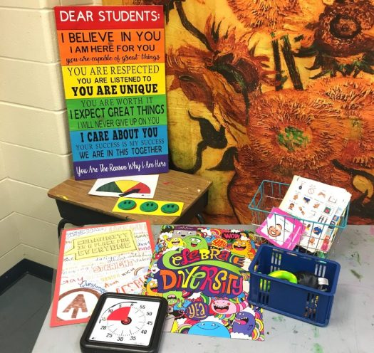 Image of items that encourage an inclusive classroom