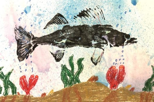 Image of artwork with fish