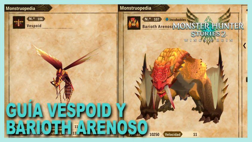 Monster hunter Vespoid Barioth arenoso