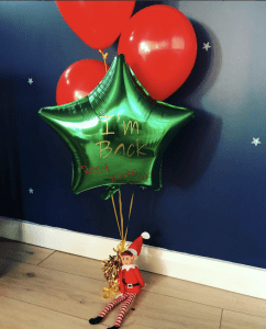 Elf I'm Back Balloons