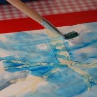 How to make Salt Snowflake Watercolor Art
