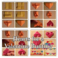 How to make a Valentine heart bunting (Origami Craft)
