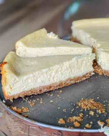 Peanut butter cookie crust NY style cheesecake.