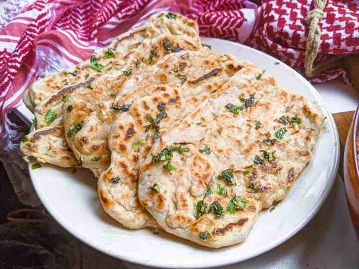 homemade garlic butter naan
