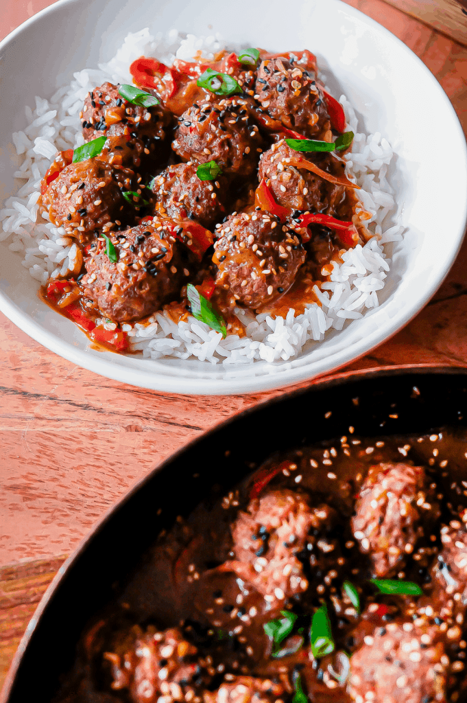 Sweet & spicy hoisin freezer meatballs