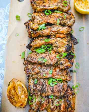 Jerk chicken is a perfect blend of spice, salt, acid and heat. The quick jerk marinade turns your regular chicken thighs into a super flavourful meal even on a busy weeknight. A good marinade is probably the easiest way to go from regular chicken to an exciting meal.