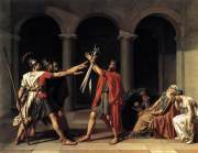 Jacques-Louis David, Oath of the Horatii,1784, oil on canvas