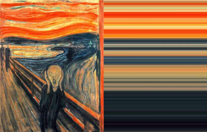 The Scream Ombre | The Art of Mark Evans