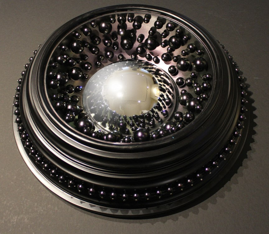 Black Pearl Convex Mirror | The Art of Mark Evans