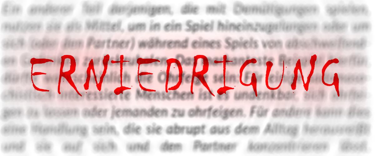 SMBlogparade - Erniedrigung
