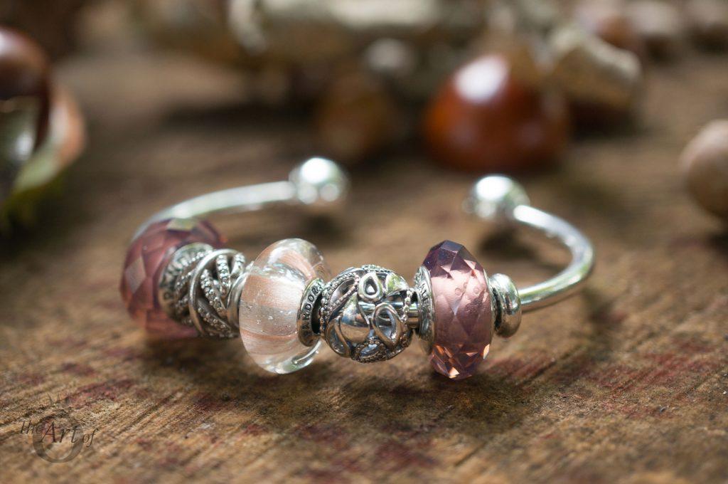 REVIEW Pandora Shimmering Stripe Glass Murano Charm The