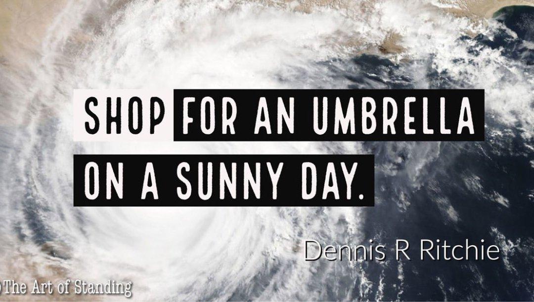 Quote To Self – Umbrellas