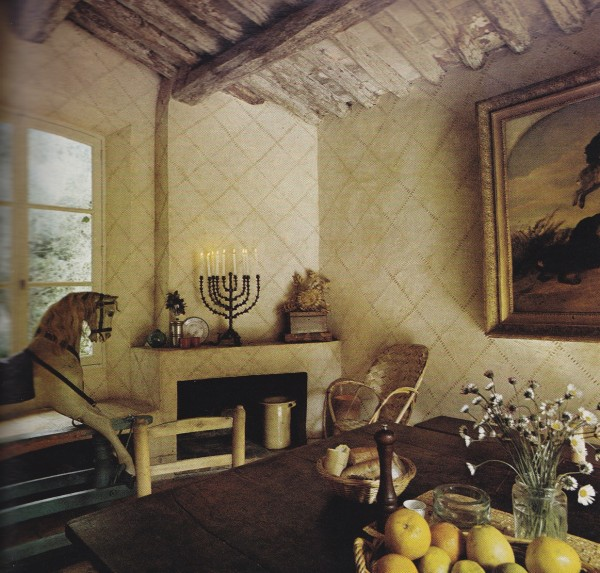 English architect Thomas Wilson's 300-year-old home in the south of France. AD Jan/Feb 74. Photography by Tim Street-Porter