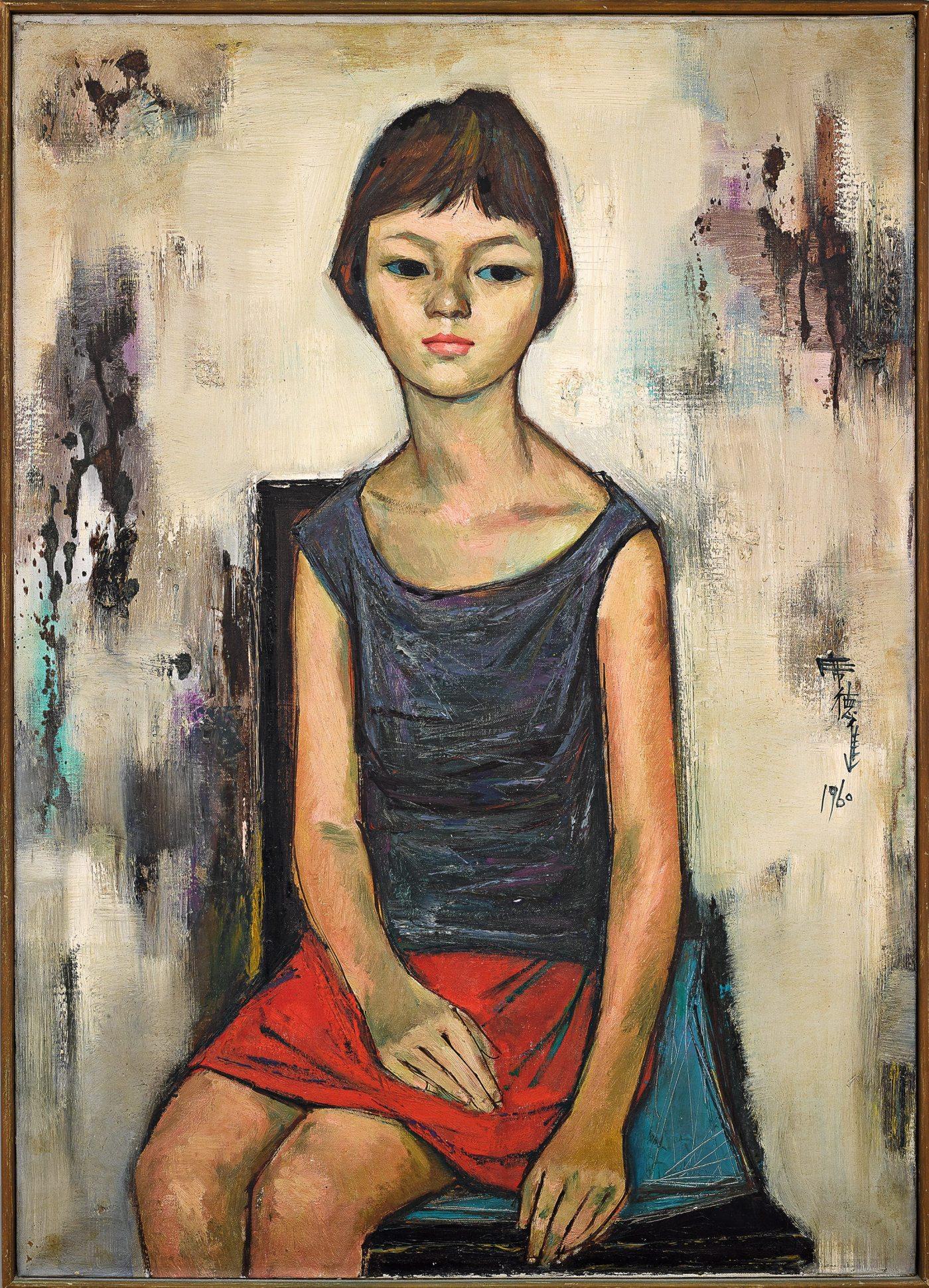 Shiy, De-Jinn_Young Girl_1960_91 x 65 cm_3343 x 2433 pixels_Sotheby's_HK0654_1027_a