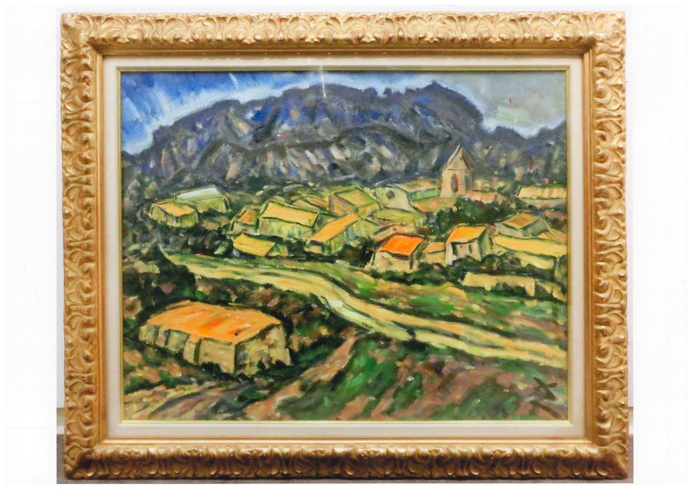 里見勝藏 Satomi Katsuzo, 波城 Pau, 1975-76, oil on canvas, 91 x 72.5 cm.jpg