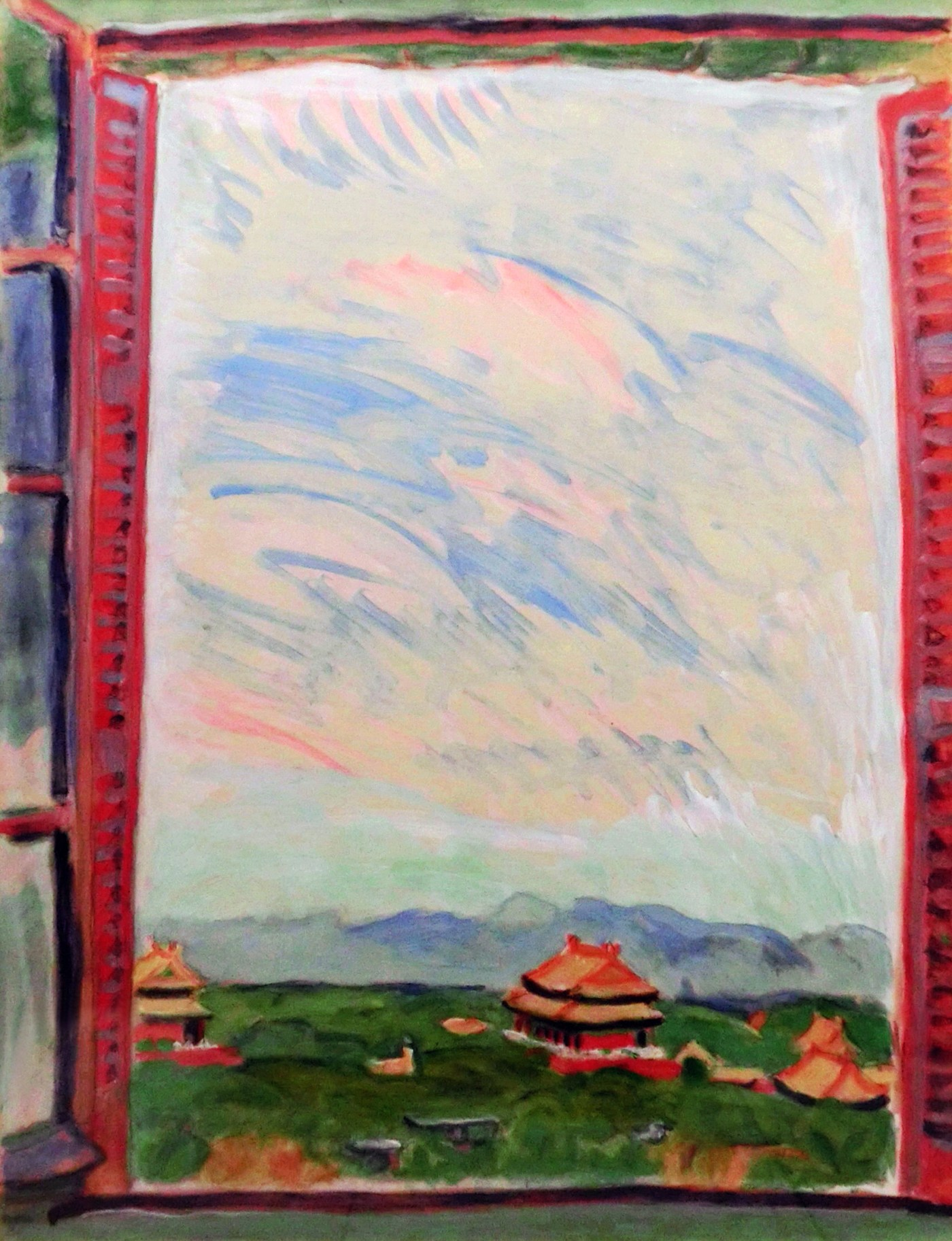 Umehara Ryuzaburo, 北京之窗 Window View of Beijing, 1943-2