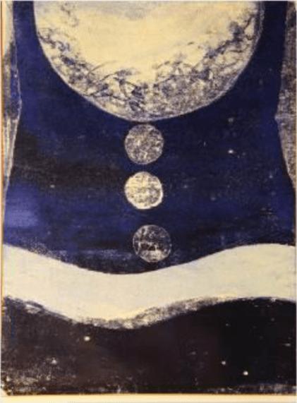 Chu Weibor 朱為白, God's Will, 1971, 84 x 67 x cm Oil, plastic, glass plate, Asia Art Center   Taipei, Beijing