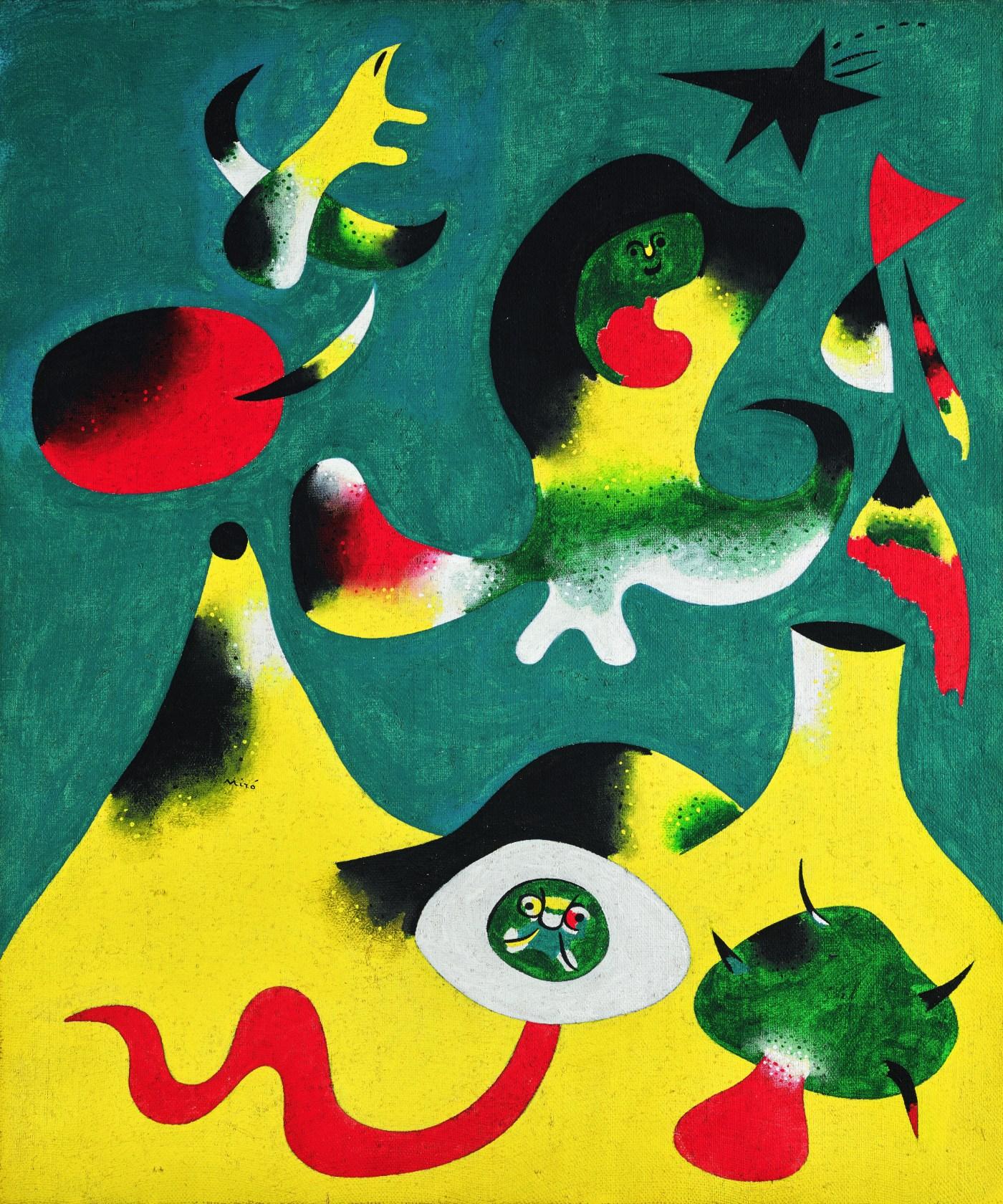 Lot 16 Joan Miró, Peinture (L'Air), 1938, oil on canvas (est. £10,000,000 – 15,000,000)