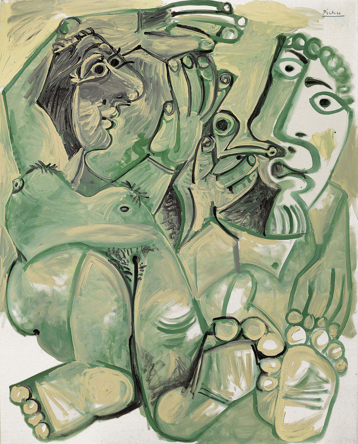 Pablo Picasso, Homme et femme nus, 1968. Est. £10 million–15 million, sold for £12.5 million. Courtesy Christie's Images Ltd. 2019..jpeg
