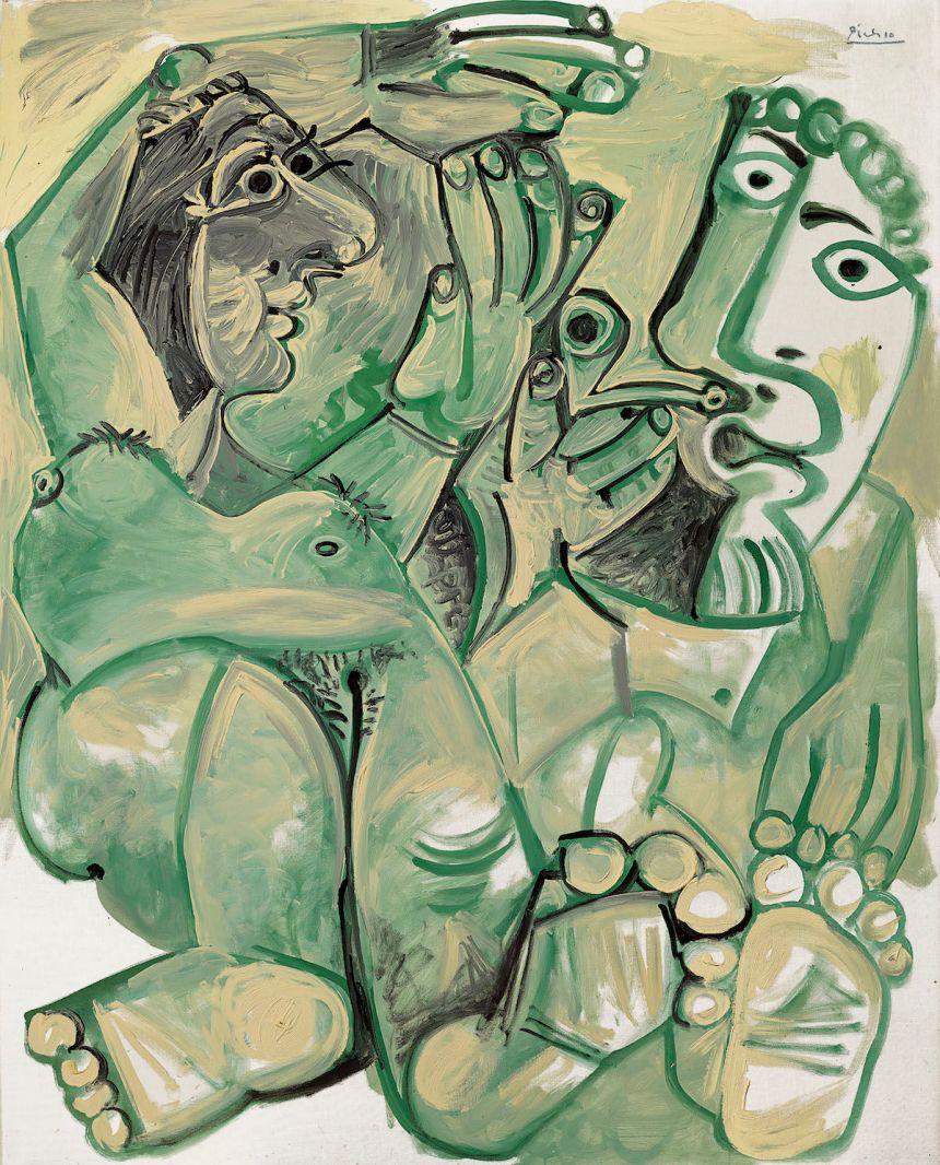 Pablo Picasso, Homme et femme nus, 1968. Est. £10 million–15 million, sold for £12.5 million. Courtesy Christie's Images Ltd. 2019..jpeg