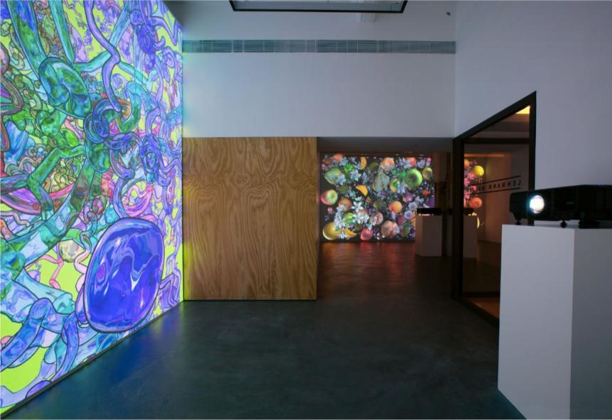 Jennifer Steinkamp, Still-Life  Installation view at Lehmann Maupin, Hong Kong  September 19 – October 26, 2019  Photo by Owen Wong