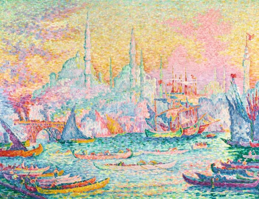 保羅・席涅克《金角灣(君士坦丁堡)》,1907年作。成交價16,210,000美元。.jpeg