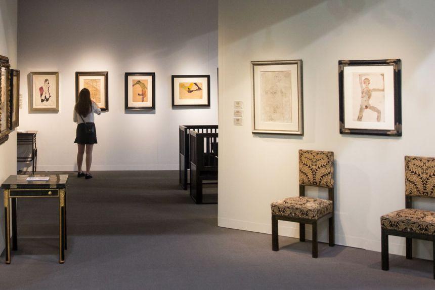 Installation view of Richard Nagy's booth at Art Basel in Hong Kong, 2019. Courtesy of Art Basel.