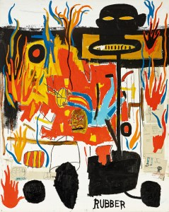 Courtesy of Sotheby's Lot 8, Jean-Michel Basquiat, Rubber, £6-8m